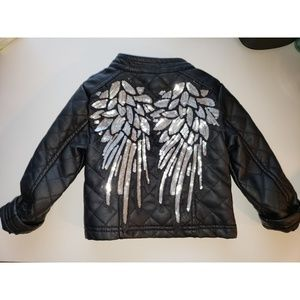 Other - Sequin Faux Leather Jacket